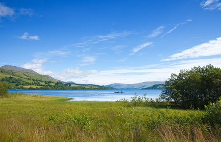 Scotland, summer landscape with Loch Tay near Killin Stock Photo - 15048059