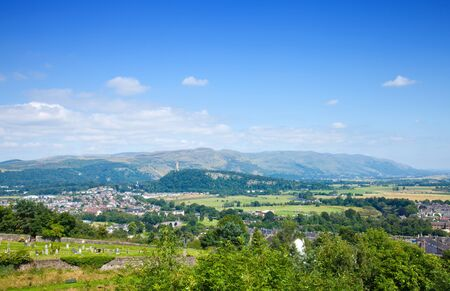 wallace: the Wallace Monument as seen from Stirling Castle hill