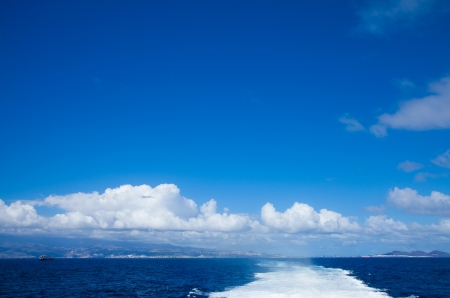 going on a sea ferry from Gran Canaria to Fuerteventura Stock Photo - 15594054