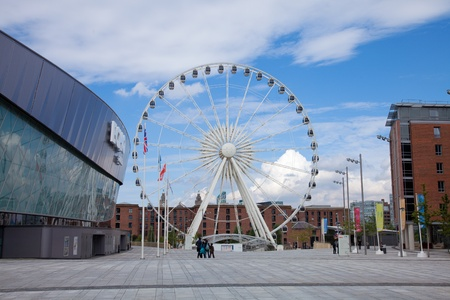 observation wheel: Liverpool, observation wheel close to Albert dock, summer 2012 Editorial
