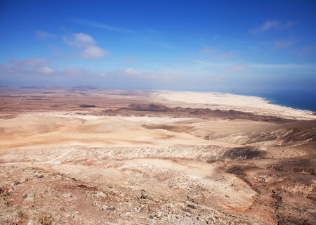 Northern Fuerteventura, view north from Montana Roja (Red mountain) photo
