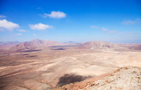 nombre: Northern Fuerteventura, view west from Montana Roja (Red mountain) Stock Photo