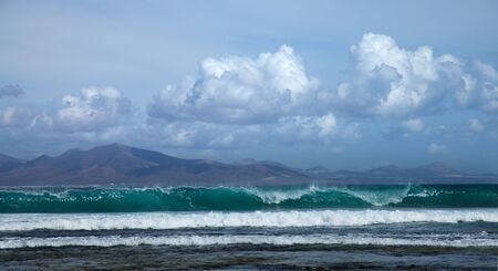 Sea swell btween Fuerteventura and Lanzarote photo