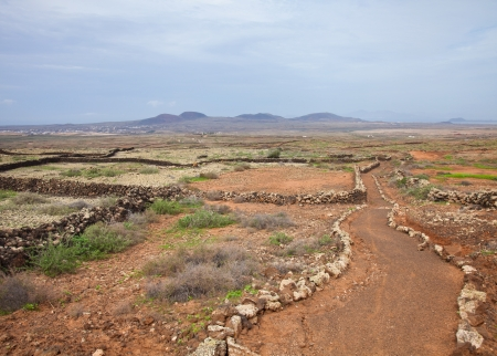 oliva: Northern Fuerteventura, pedestrian path from Lajares to Villaverde and La Oliva