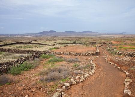 hondo: Northern Fuerteventura, pedestrian path from Lajares to Villaverde and La Oliva