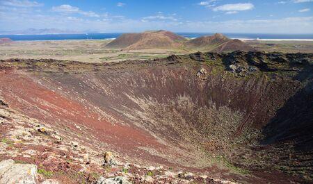 hondo: Calderon Hondo, Northern Fuerteventura Stock Photo
