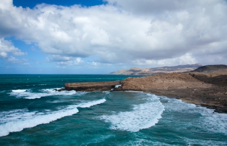 west coast of Fuerteventura, Canary Islands, at La Pared Stock Photo - 16703700