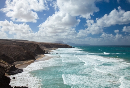 west coast of Fuerteventura, Canary Islands, at La Pared Stock Photo - 16726099
