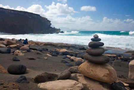 west coast of Fuerteventura, Canary Islands, at La Pared photo