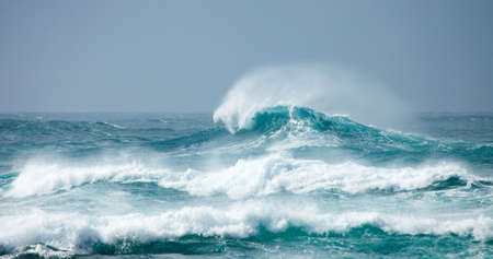 breaking wave horizontal background Stock Photo - 16832966
