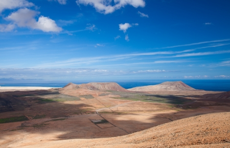 Inland Fuerteventura, view from Montana de Ecanfraga at Villaverde photo