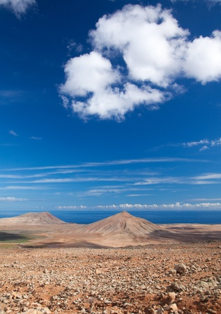 Inland Fuerteventura, Canary Islands, Montana de Caima and Montana Roja Stock Photo - 16891998
