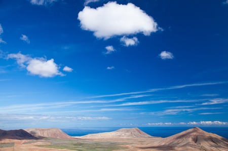 Inland Fuerteventura, Canary Islands, Montana de Caima and Montana Roja photo