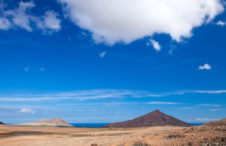 Inland Fuerteventura, Canary Islands, Montana de Caima and Montana Roja Stock Photo - 16947065