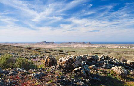 Rocks and lichens at natural monument Malpais de la Arena, Fuerteventura, Canary Islands Stock Photo - 17215188