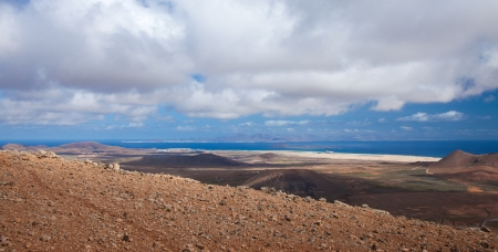Inland Fuerteventura, northern part of the island, Montana Negra and Montana Pajarita Stock Photo - 17423899