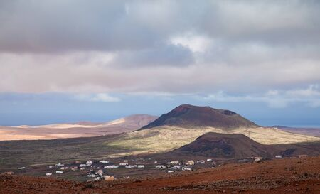 Inland Fuerteventura, Montana de Arena and edge of Villaverde village Stock Photo - 17423898
