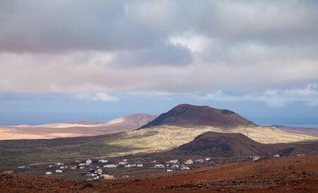 Inland Fuerteventura, Montana de Arena and edge of Villaverde village Stock Photo - 17423898