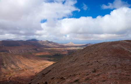 Inland Fuerteventura, view west from Montana de Ecanfraga photo