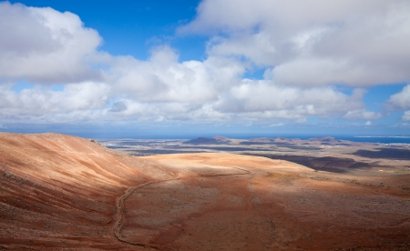 Inland Fuerteventura, view north from Montana de Ecanfraga, edge and intter part of the caldera photo