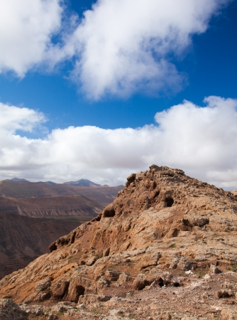 Inland Fuerteventura, view south-west from Montana de Ecanfraga, edge of the caldera Stock Photo - 17424207