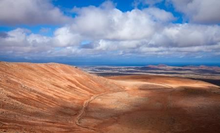 Inland Fuerteventura, view north from Montana de Ecanfraga, edge and intter part of the caldera Stock Photo - 17424206