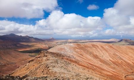 Inland Fuerteventura, view west from Montana de Ecanfraga, edge of the caldera Stock Photo - 17424202