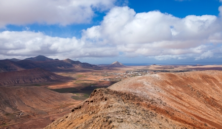 Inland Fuerteventura, view west from Montana de Ecanfraga, edge of the caldera photo