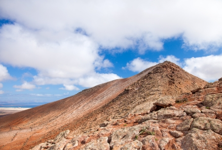 Inland Fuerteventura, Montana de Ecanfraga, top and the edge of the caldera photo