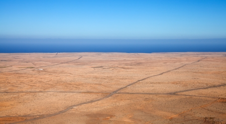aborigin: Fuerteventura, view west from Tindaya mountain Stock Photo