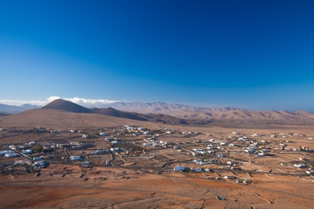 Inland Fuerteventura, village of Tindaya seen from the mountain bearing the same name photo