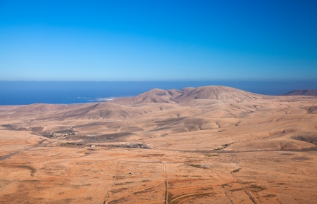 Fuerteventura, view north from Tindaya mountain towards El Cotillo