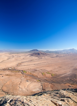 Fuerteventura, view north from Tindaya Stock Photo