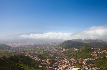 North-east of Tenerife, view from Mirador Jardina towards  Las Mersedes, La Laguna and Teide photo
