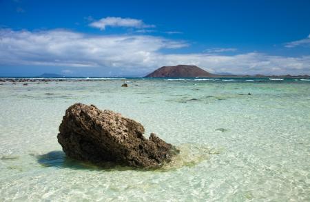 Northern Fuerteventura, Corraejo Flag beach, low tide photo