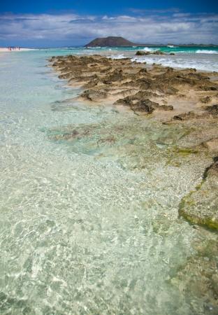Northern Fuerteventura, Corraejo Flag beach, low tide Stock Photo - 18573706