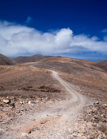 Southern Fuerteventura, Jandia, path towards Pico de Zarza, highest point of the island photo