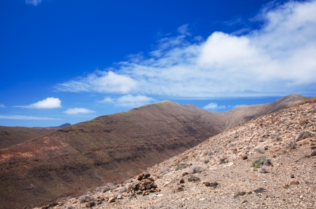 Southern Fuerteventura, Jandia, view along the Barranco de Vinamar photo