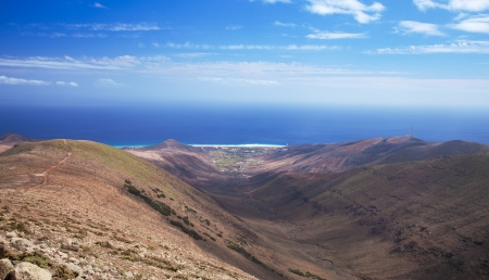 Southern Fuerteventura, Jandia, path from  Pico de Zarza, highest point of the island, towards Morro jable photo