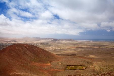 hondo: Northern Fuerteventura, Canary Islands, view towards Lajares from Calderon Hondo