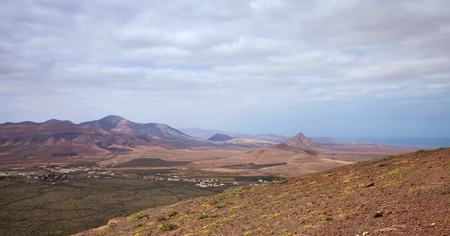 Inland Northern Fuerteventura, view south from Montana de Arena photo