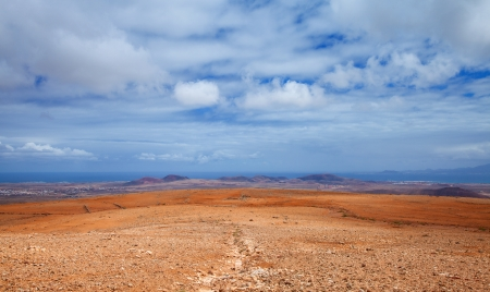 Inland Northern Fuerteventura, view from Montana de Ecanfraga towards Bayuyo volcano system photo