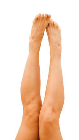 sporty female legs isolated on white Stock Photo - 19723458