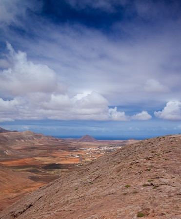 Inland Northern Fuerteventura, view west from Montana de Ecanfraga photo