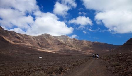 Southern Fuereteventura, hiking at Jandia, Gran Valle Stock Photo - 20159453