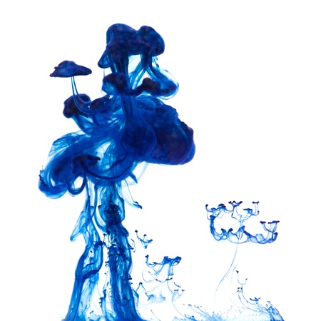 strange flora - drop of ink going thrppugh water photo