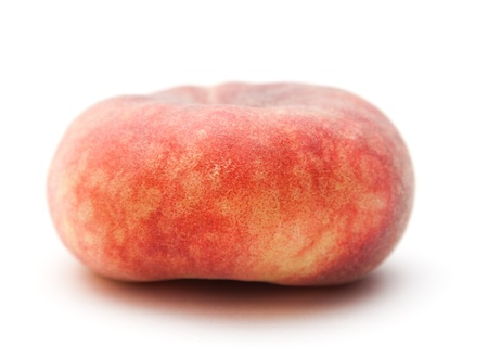 velvety: doughnut peaches isolated on white