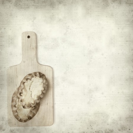 pasty: textured old paper background with karelian pasty