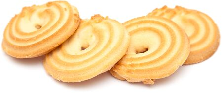 shortbread ring biscuit isolated on white photo