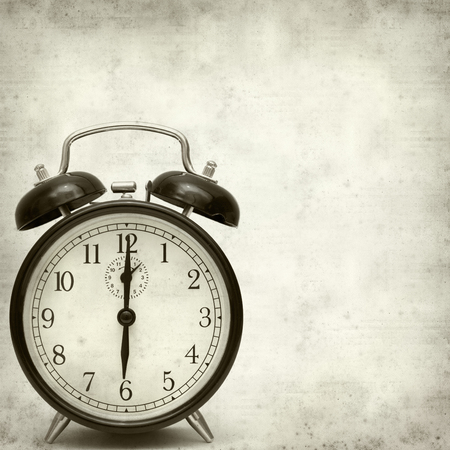 old fashioned: old fashioned alarm clock Stock Photo